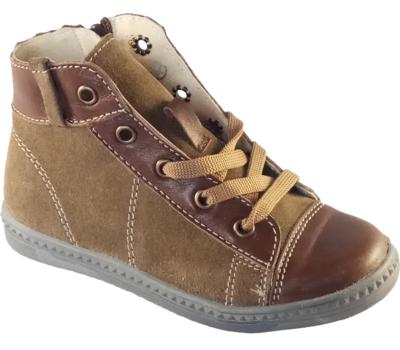 Ботинки на шнурках коричневые 90357 Ч